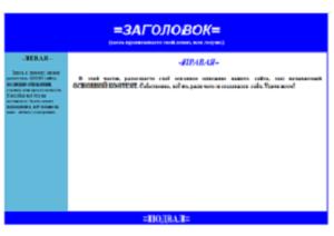 Шаблоны CSS и HTML-3